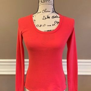 Old Navy Scoop Neck Long Sleeve Top, Size Small